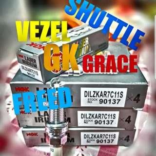 Spoiled Market Sales!!! NGK Laser Iridium Spark Sparks Plug for ( VEZEL / FIT JAZZ GK / SHUTTLE / GRACE / JADE / FREED HYBRID)
