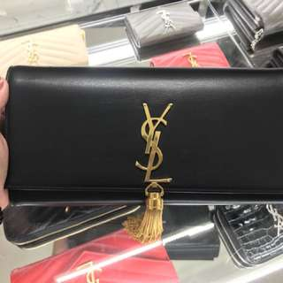 YSL Clutch Tassel GHW - Black