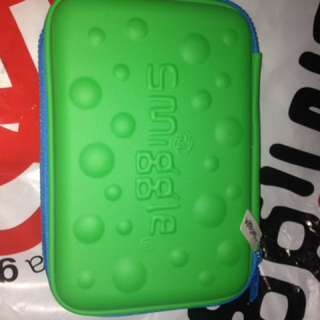 Smiggle bubble hardtop pencil case (green and blue)