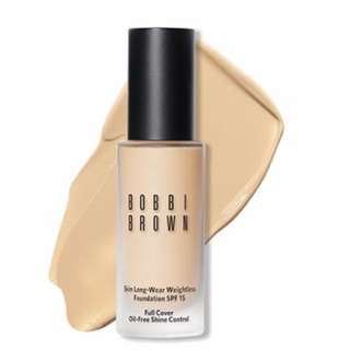 BN BOBBIBROWN SKIN LONG-WEAR WEIGHTLESS FOUNDATION SPF 15