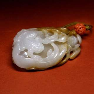 Fine Jade Craving of a lotus . Qing Dynasty