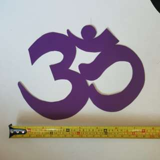 Om car decal violet