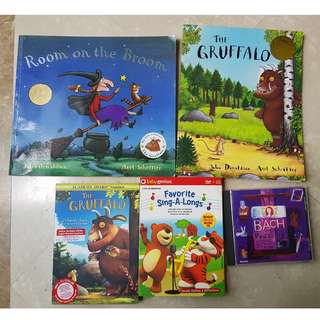 Books by Julia Donaldson - The Gruffalo & Room on the Broom