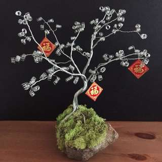 Handcrafted Wire Bonsai Plant