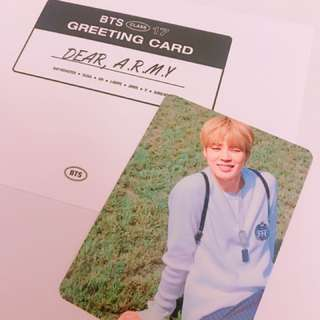 BTS 2017 season greeting jimin 小卡