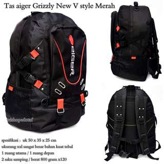 Tas Ransel Besar Aiger Grizzly New V style red