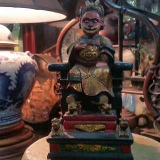 China Antique Wood Carving Figurine Monkey King ( Chi Tiean Ta Sen )清末民初古董木雕齐天大圣