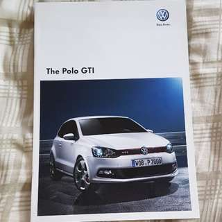 vw volkswagen das auto polo gti sales material brochure English specifications technical options tfsi dsg equipment