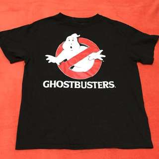 Ghostbusters Blck Shirt! (never been used wrong size for my son) size 10-12 on tag but can fit also age 7up