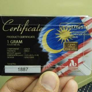 Gold bar special edition merdeka 1gram