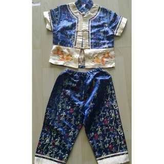 CNY Chinese New Year set clothes shirt top pants for boy