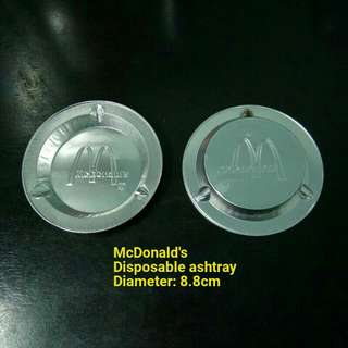 Vintage McDonald's Disposable Ashtray