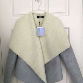 Missguided fur grey jacket coat