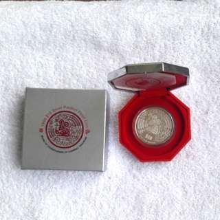 1996 $10 silver piedfort proof coin. With certificate