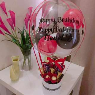 Hot air chocolate bouquet