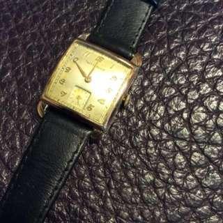 10K包金古董WITTNAUER上鍊男裝錶