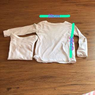 2 pcs H&M organic cotton size 1 1/2-2y
