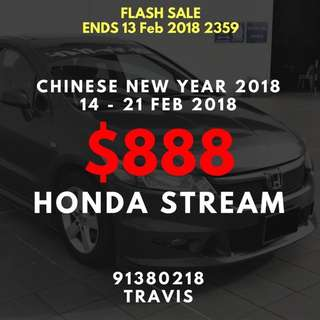 14-21 FEB CNY PROMOTION MPVs ($888) Last 3!
