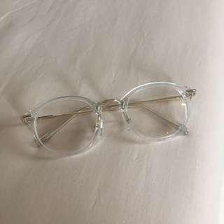 Ulzzang Glasses transparant round (No degree)
