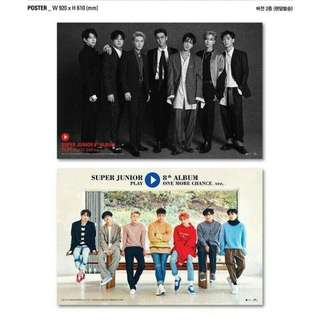 PREORDER FREE SHIPPING SUPER JUNIOR ONE MORE CHANCE BLACK SUIT OFFICIAL ALBUM