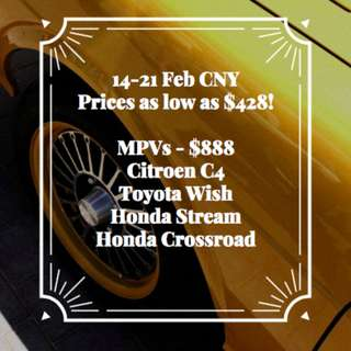 $888MPVs 14-21 FEB CNY FLASH SALE