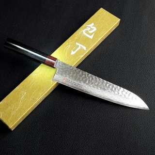 SETO ISEYA petty knife hammered damascus 150mm