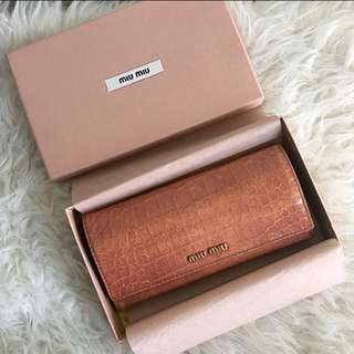💯Authentic Miu Miu long purse