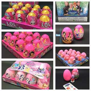 PO new Arrival egg surprise !! Ideal for goodies bag/birthday gift brand new .. can mix and choose design.. Bulk purchase pm me For Details