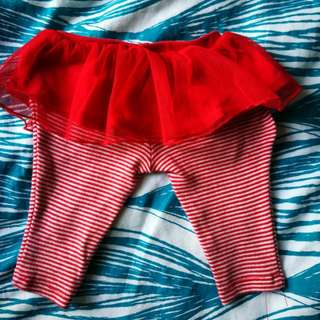 Carter's Red Tutu Leggings