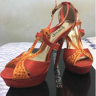 Red&Orange Strappy Stiletto