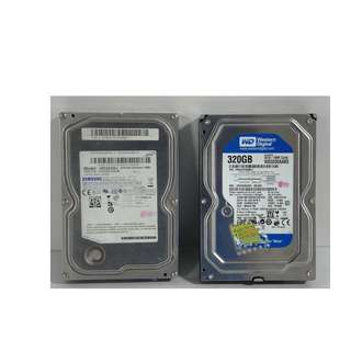 For Sale Slightly Used Hard Disks  320Gb Sata