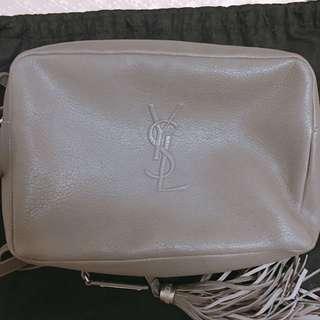YSL shoulder bag LOU BAG IN ASPHALT GRAY LEATHER