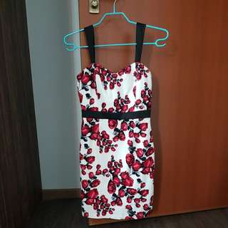 Sweet bodycon dress- roses