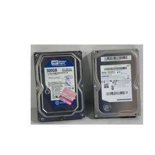 For Sale Slightly Used Hard Disks  500Gb Sata