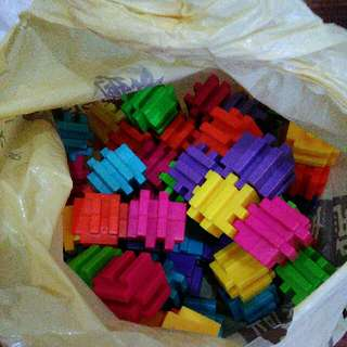 Mainan Anak Block Blok Toys Brick Warna Cerah