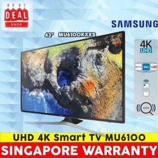 Samsung UA43MU6100KXXS 43 inch. UHD 4K Smart TV.3 Years Local warranty by Samsung.