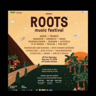 LF 2 UP Fair Roots tix willing to buy for 500php each