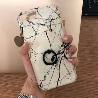 Iphone 7+/8+ case marble with iring
