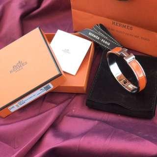 Hermes clic clac H in Orange