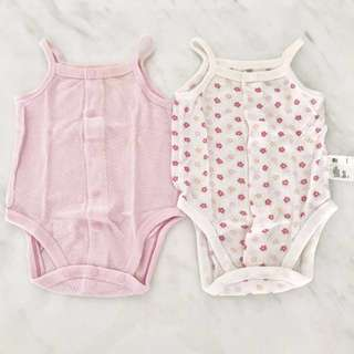 (To Bless exchange) Preloved baby girl rompers (newborn to 3 months)