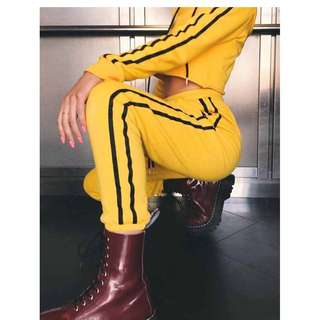 I am gia trackpants pants track kill bill yellow black festival grunge princess polly verge girl bec bridge realisation par sir the label zimmermann