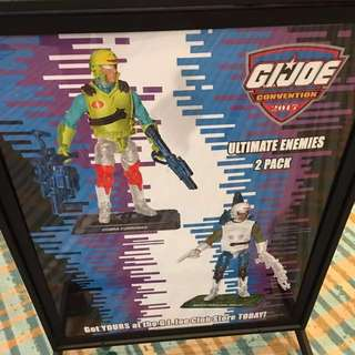 GI Joe 2017 Joecon  figures Ultimate Enemies 2 packs