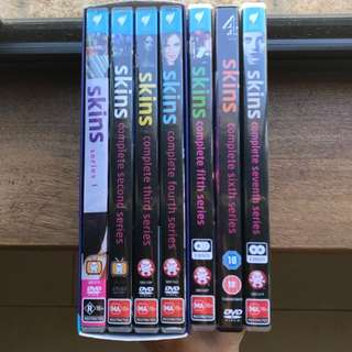 Skins Seasons 1, 2, 3, 4, 5, 6 and 7 on DVD