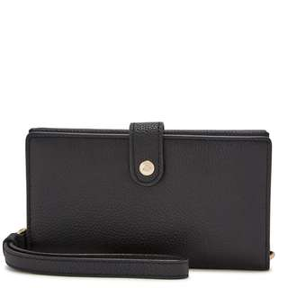 COACH Black grained leather wallet