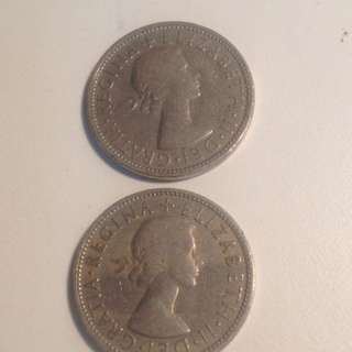 Uk two shillings