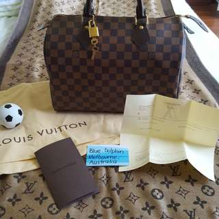 ON SALE! AUTHENTIC LOUIS VUITTON SPEEDY 30 DAMIER EBENE