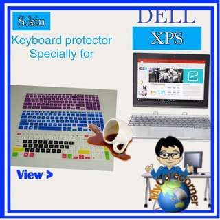 Dell XPS laptop Silicone Keyboard Protector tablet  skin cover guards XPS13 9343 13-9350 13-9360 DELL XPS 15 9550  XPS 15 9660