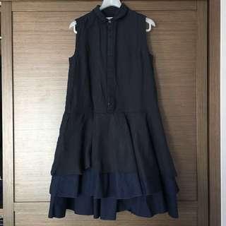 Initial海軍藍色連身裙(2碼)