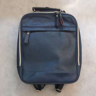 Korean faux leather laptop backpack