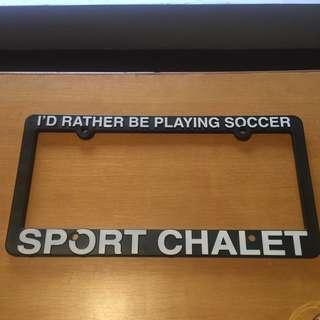 Sport Chalet License Plate Frame